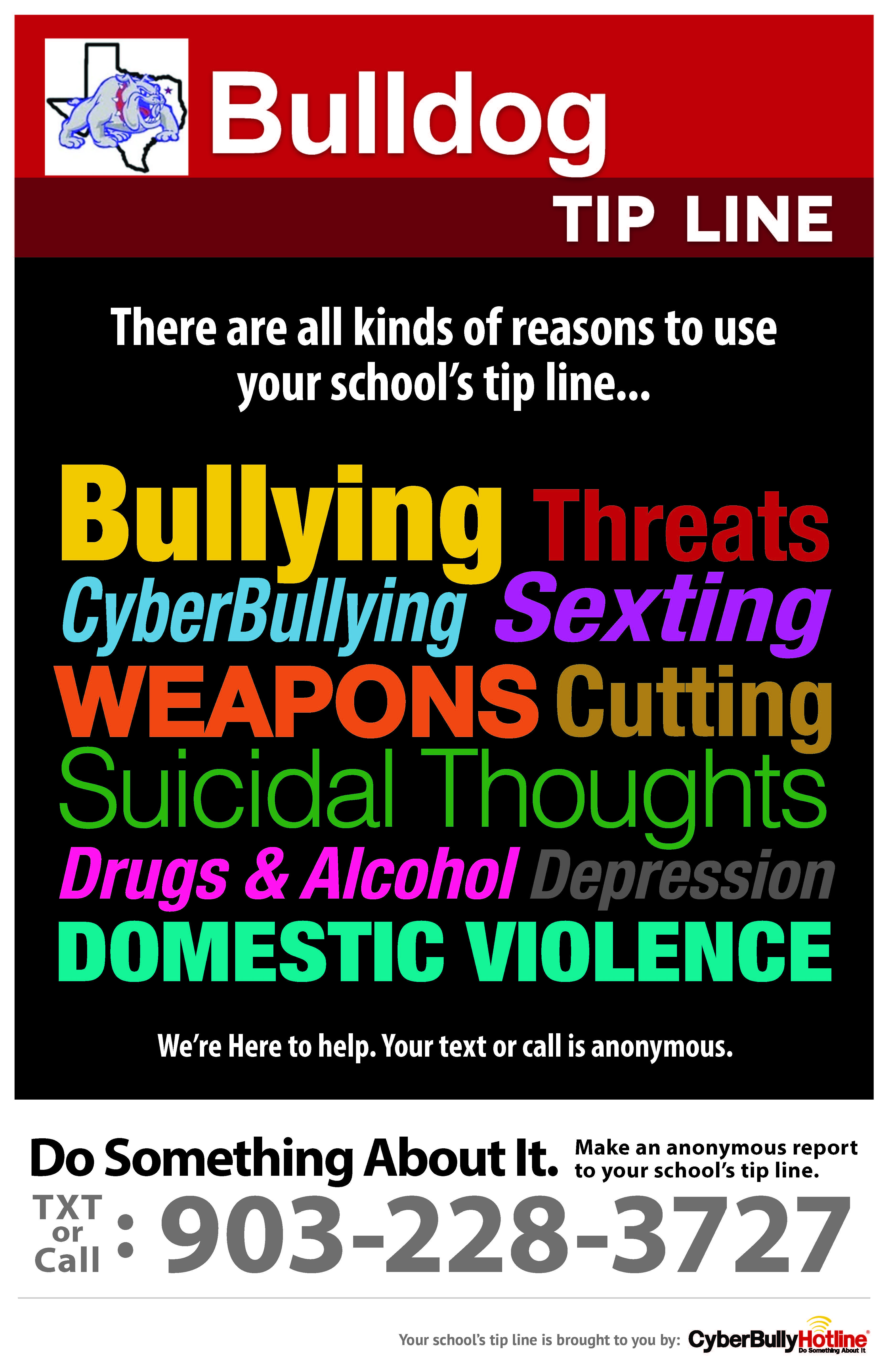 QHS CyberBully Hotline Poster