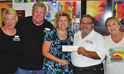 Rods and Relics donate to LHUSD for school supplies
