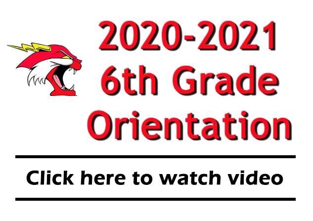 2020-2021 6th grade orientation banner