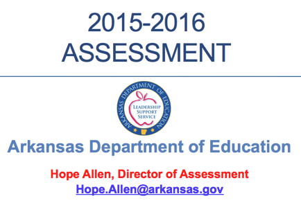 ADE Assessment Info