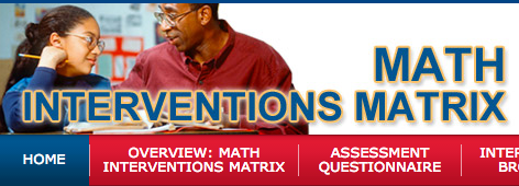 Math Interventions Matrix