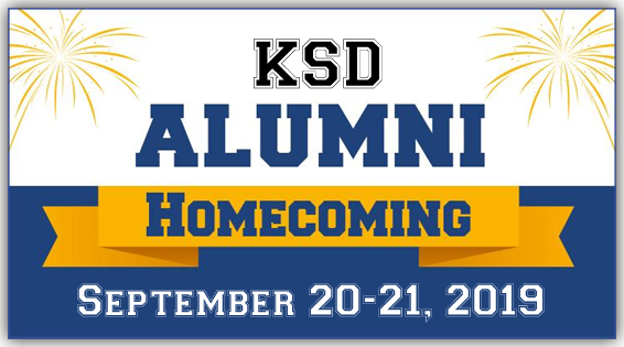 KSD Alumni Homecoming September 20-21, 2019