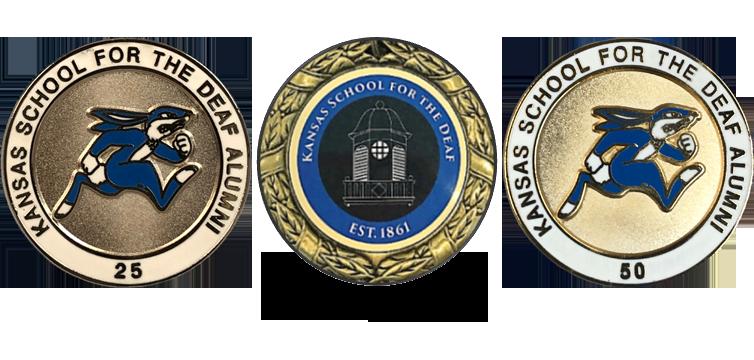 KSDAA 25 yr Silver Pin, 50 yr Gold Pin and Hall of Fame medal award
