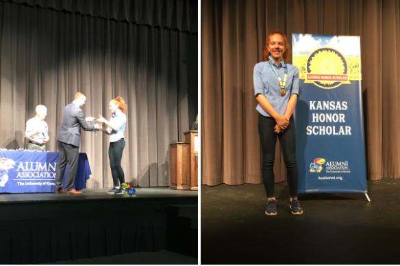 Taylor Wise receives 2019-20 Kansas Honor Scholar
