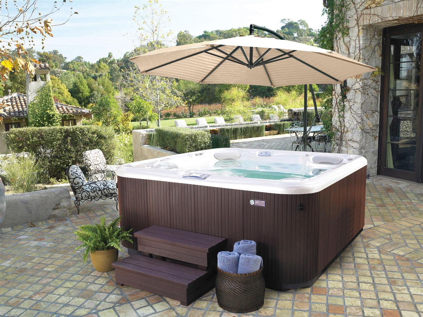 above ground pool with deck and hot tub. Let Us Help You Discover The Perfect Hot Tub For You! Come By And Visit Our  Spa Showroom Today! We Have Many Styles Of Above Ground Pools Pool With Deck O