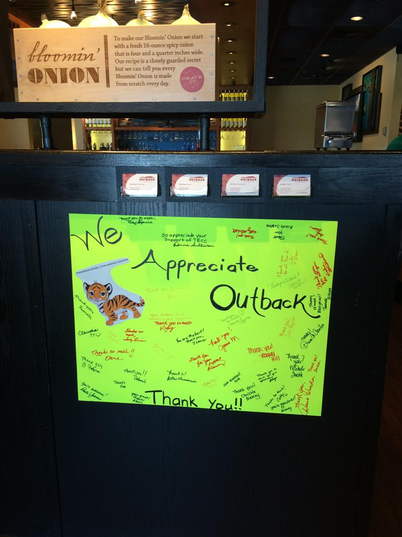 outback thank you card
