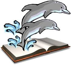 Dolphins Jumping From Book
