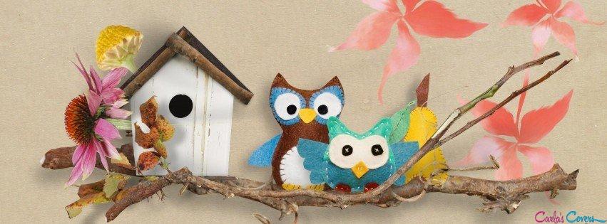 Owl birdhouse art