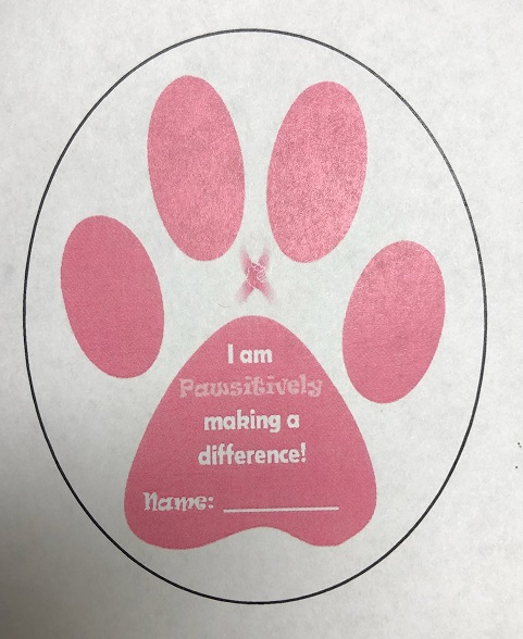 PINK PAW PRINT FUNDRAISER FORM