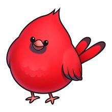 Oakwood Cardinal Clipart