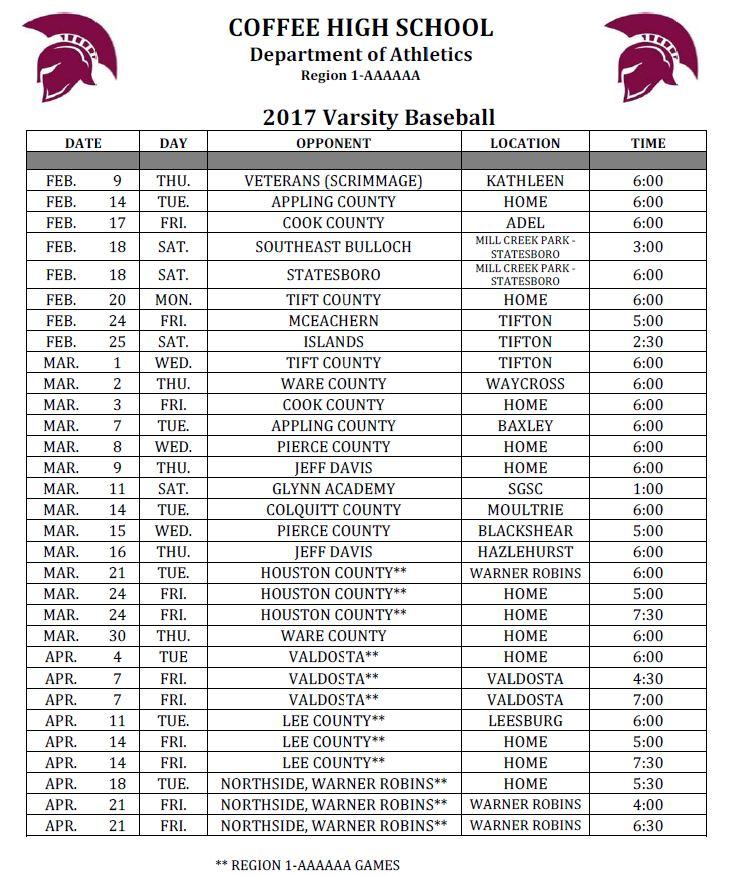 CHS Baseball 2017