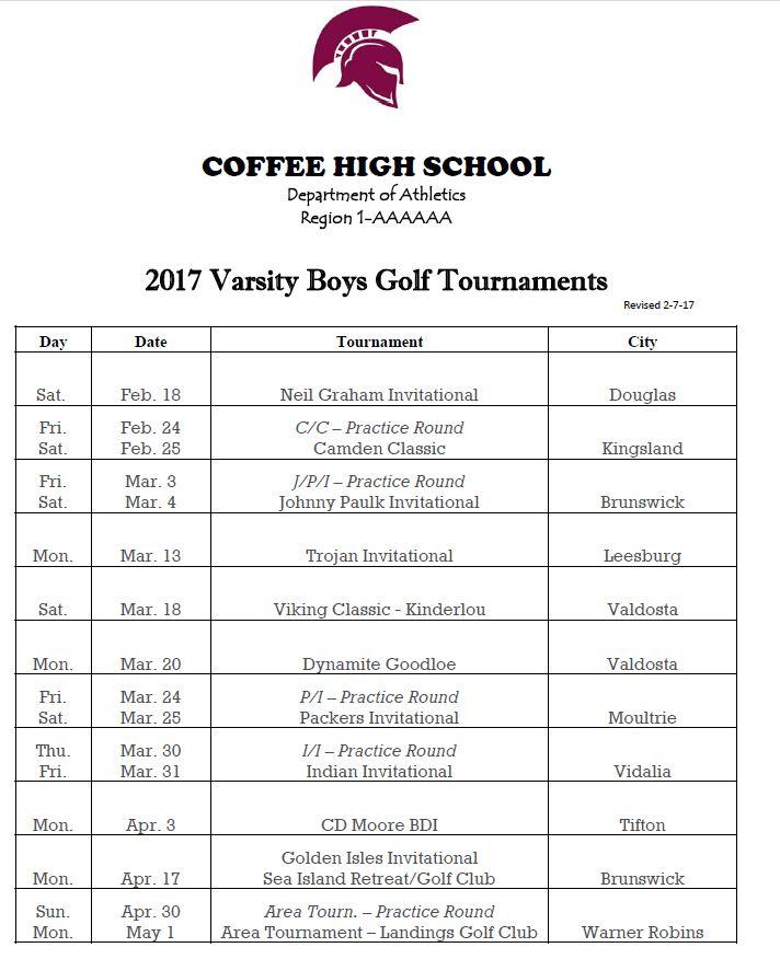 2017 CHS Golf