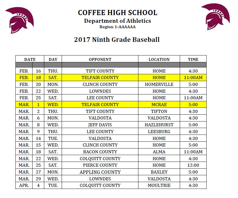 Freshman Baseball 2017