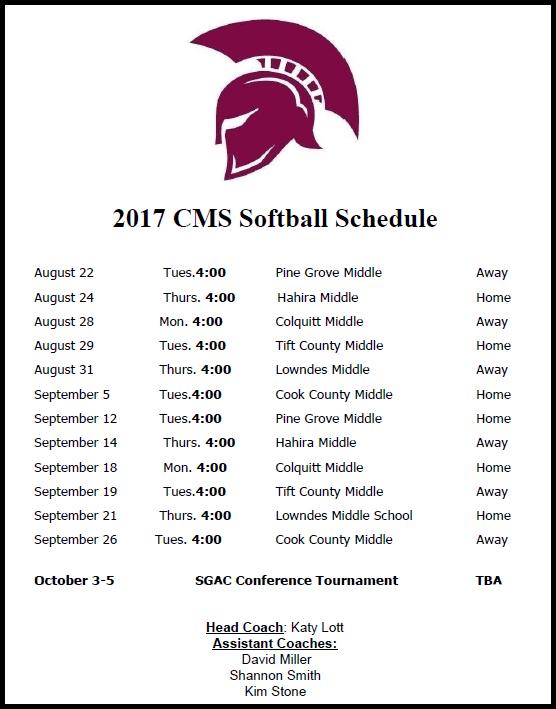 CMS Softball 2017