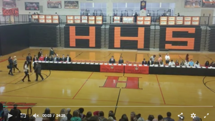 Screenshot of Hoover High Signing Day Video