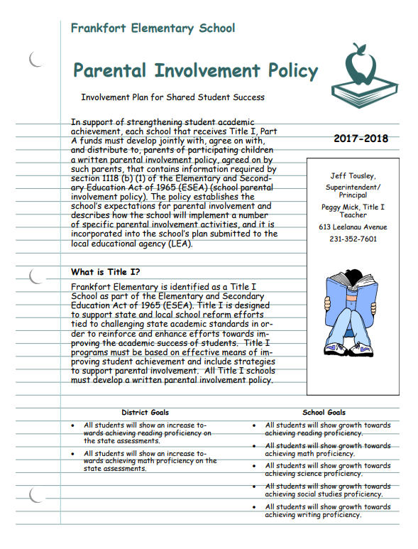 Link to Parent Involvement Policy