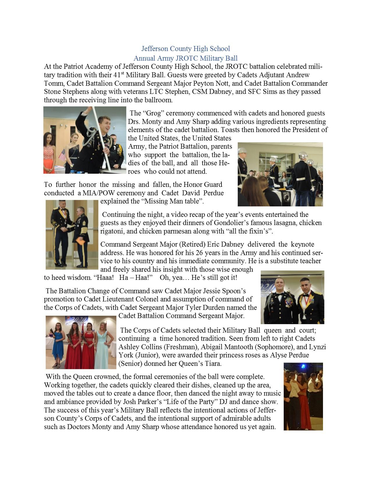 jefferson county high school jchs annual army jrotc military ball rh jchs jc schools net Curriculum Pacing Guide For Math Pacing Guide
