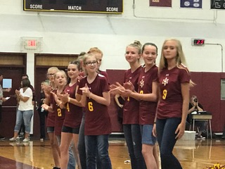 Volleyball Team at First Pep Rally