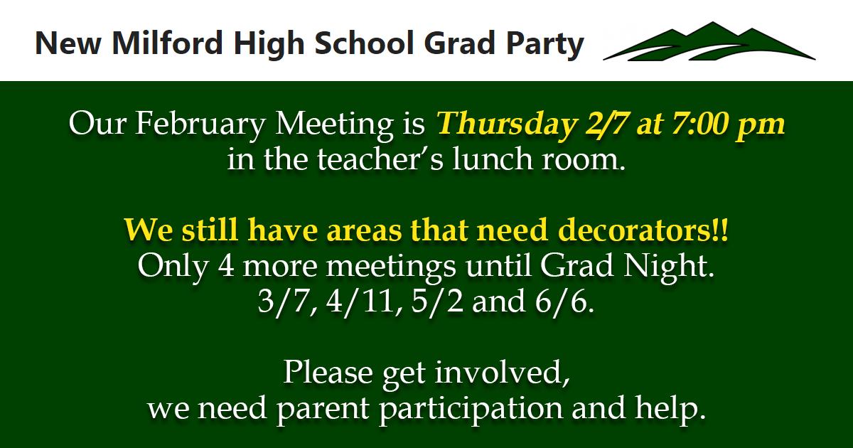 New Milford High School Grad Party