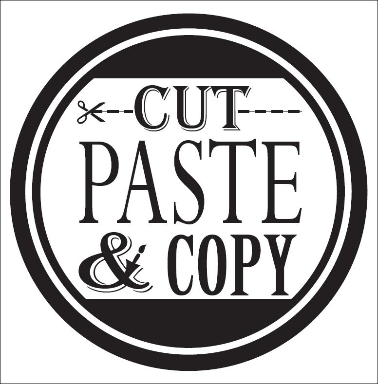 cut, paste, and copy