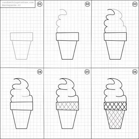 Draw an Ice Cream Cone
