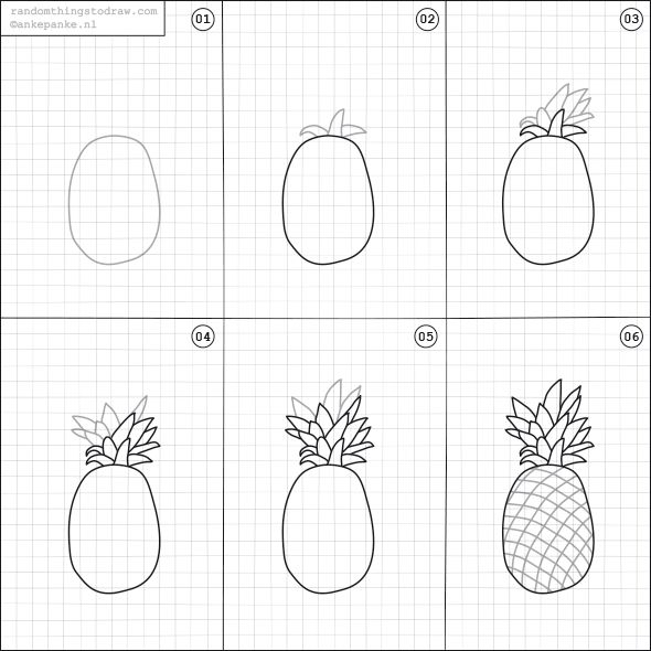 Draw a Pineapple
