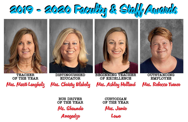 19-20 Faculty & Staff Award Winners