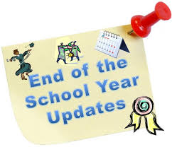 End of year announcements