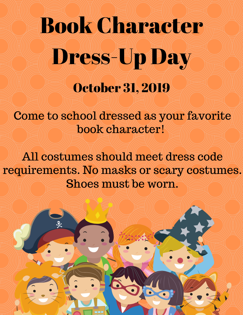 Book Character Dress-up Day - kids in costumes