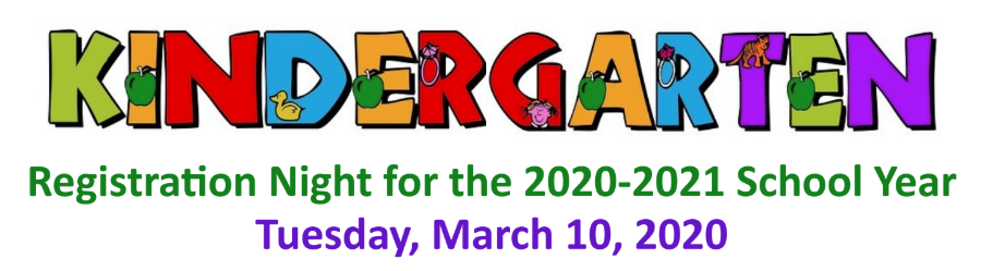 Kindergarten Registration Letters in Bright Colors