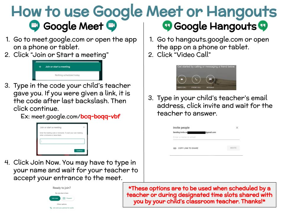 How to use Google Meet or Hangouts