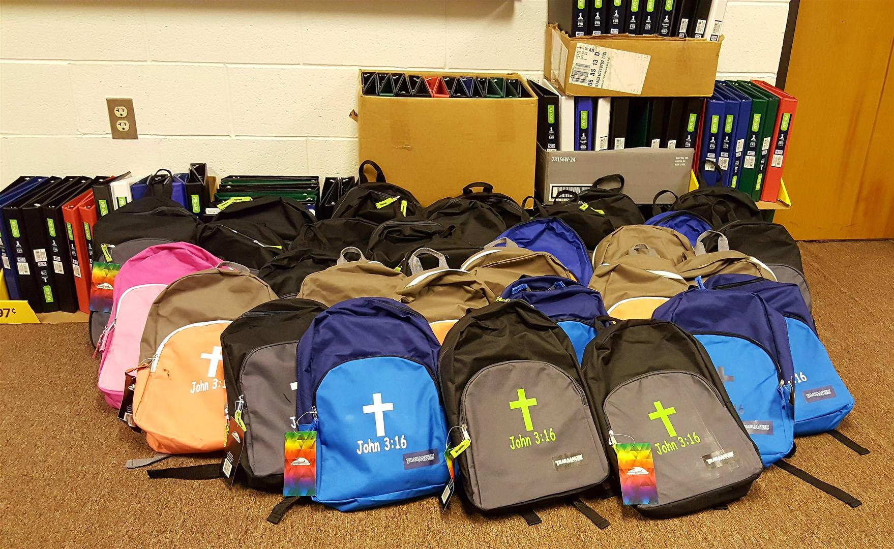 Backpacks and School supplies gift