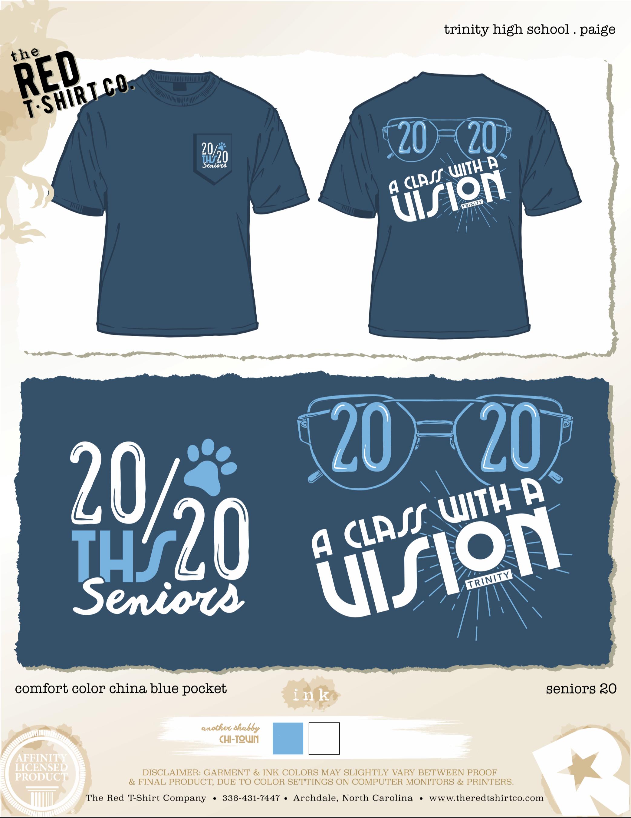 senior 2020 t-shirts