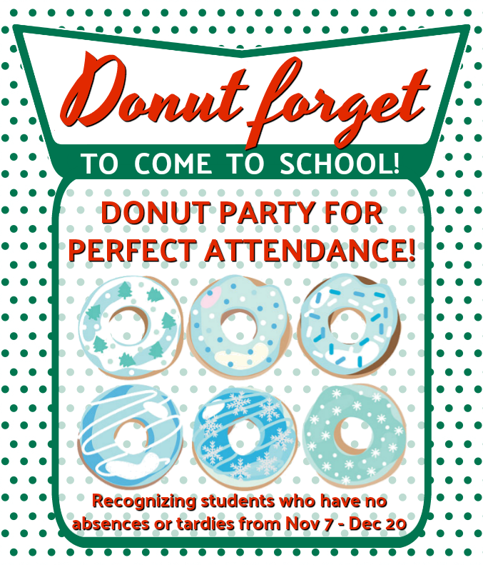 donut party poster