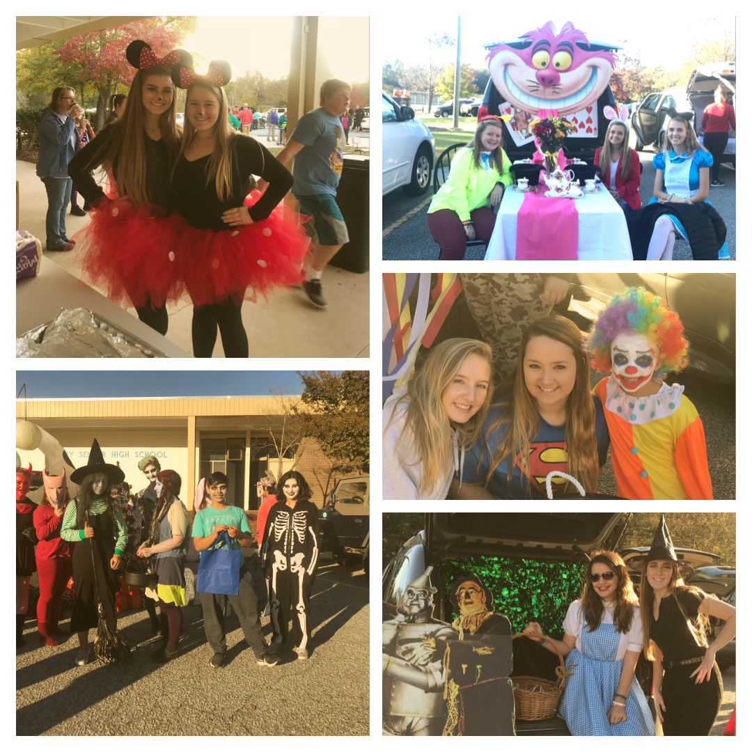 trunk or treat photo collage
