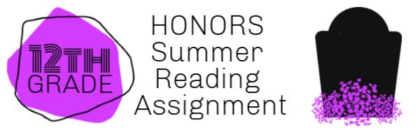 12th grade honors summer reading assignments