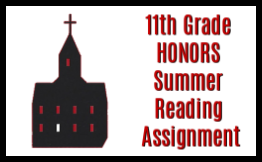 11th grade honors summer reading assignment