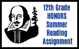 12th grade honors summer reading assignment