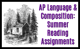 AP language & composition summer reading assignments