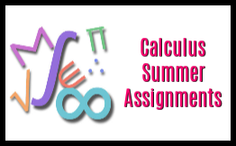 calculus summer assignments