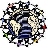 Children Holding Hands Around the World (illustration)
