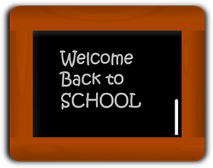 Welcome Back to School Chalkboard Message
