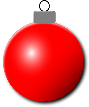 Red Christmas tree ornaments