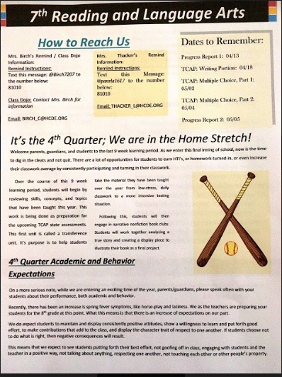 ELA 4Q Newsletter