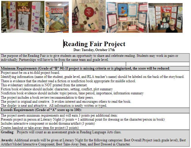 Reading Fair Info