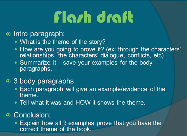 Theme Flash Draft Instructions