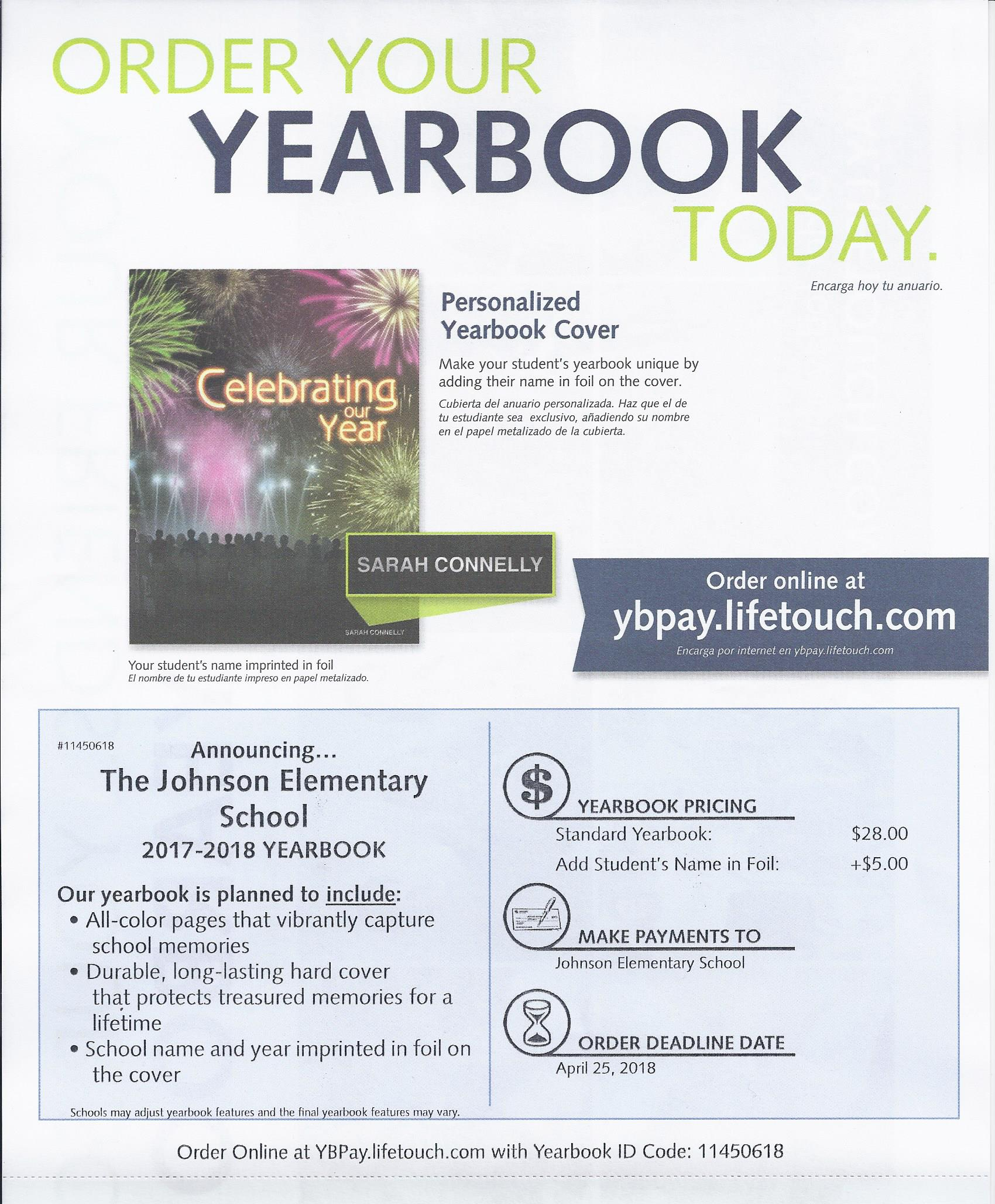 Johnson Elementary School Latest News Yearbooks Now On Sale