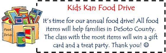 Kids Kan Food Drive