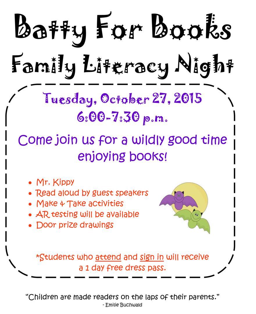 Odem Edroy Isd Oct 27th Family Literacy Night
