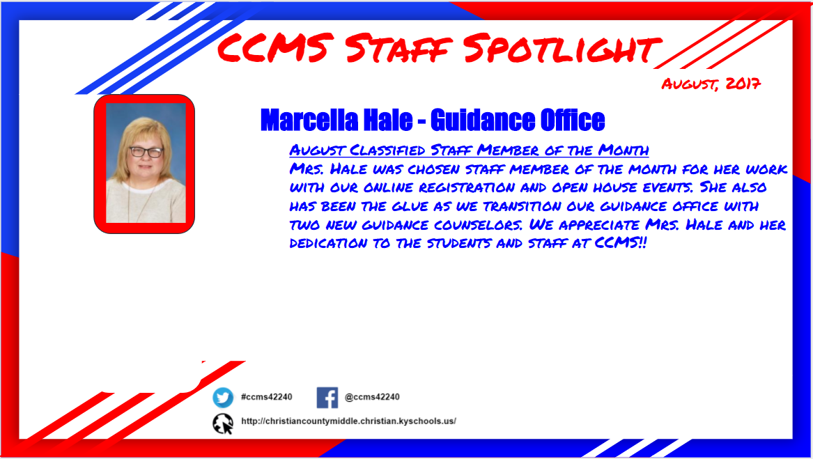 Classified Staff Member of the Month